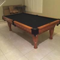 8'x4' Oak Pool Table